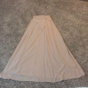 Long split skirt